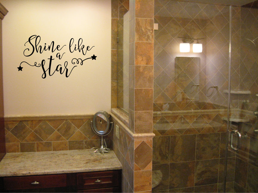 Shine Like a Star Vinyl Wall Decal Sticker Graphic