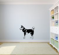Siberian Husky Life Size Vinyl Wall Decal Sticker Graphic