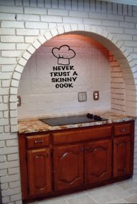 Never Trust A Skinny Cook Wall Words