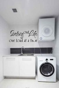 Sorting Out Life One Load at a Time Vinyl Wall Words Decal