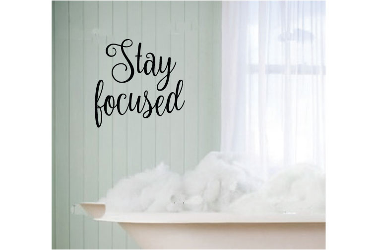 Stay Focused Vinyl Wall Words Decal Sticker Graphic