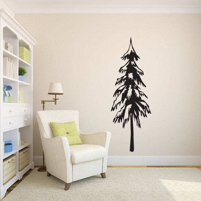 Tall Skinny Pine Evergreen Tree Vinyl Wall Decal Sticker Graphic