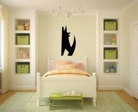 Art Deco Wolf Wall Decal